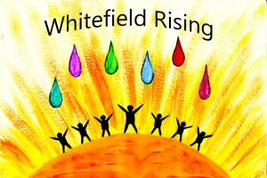 Whitefield Rising Logo english