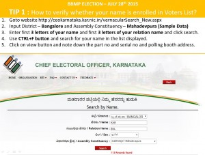 How to know your name is enrolled in voters list