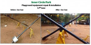 Inner Circle Park before after