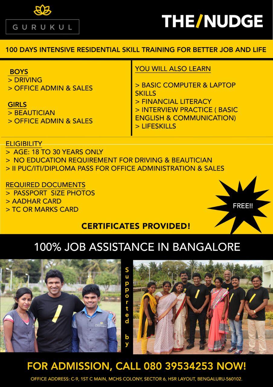 Skills program for economically disadvantaged youth of Whitefield/Mahadevapura