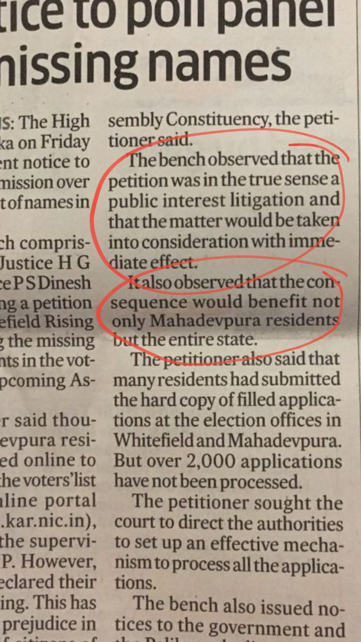 HC notice to Election Commission over missing names in electoral rolls