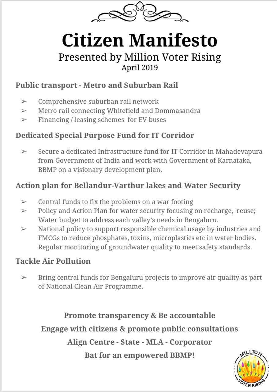 Citizen Manifesto: Election April 2019