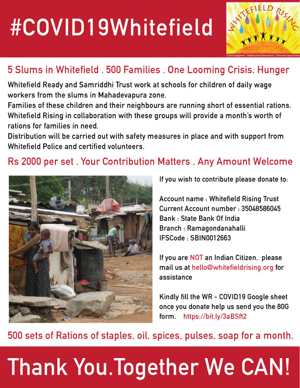 Whitefield Rising COVID19 Fundraiser