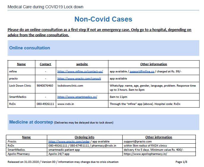 Non Covid medical help